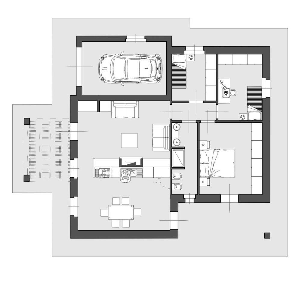 1045 Villetta singola di nuova costruzione Castelfranco di Sotto planimetria_12 Agenzia Immobiliare ASIP