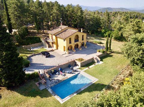 1095-Villa in collina con parco e piscina-Civitella in Val di Chiana-2 Agenzia Immobiliare ASIP