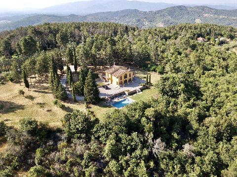 1095-Villa in collina con parco e piscina-Civitella in Val di Chiana-1 Agenzia Immobiliare ASIP