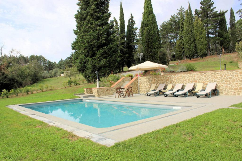 1095-Villa in collina con parco e piscina-Civitella in Val di Chiana-3 Agenzia Immobiliare ASIP