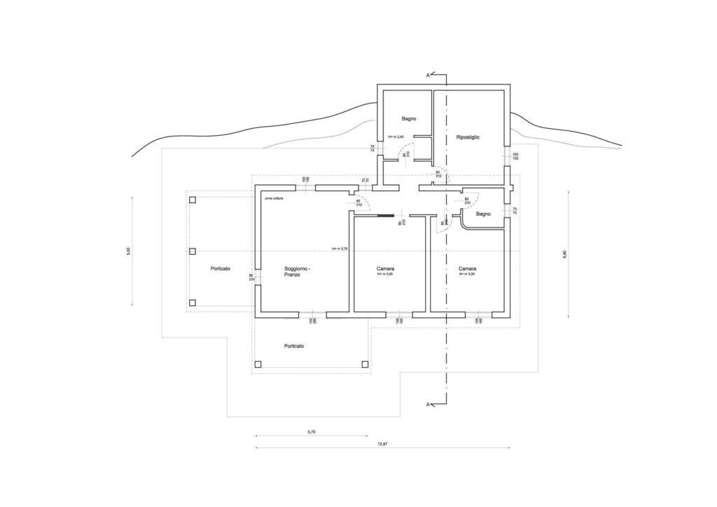 1272 Rustico con ampio terreno e vista panoramica Pistoia planimetria_7 Agenzia Immobiliare ASIP